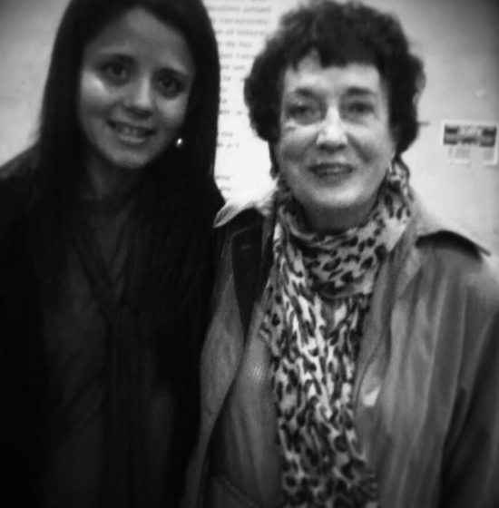 With the composer Irma Urteada