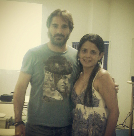 With the Director Ignacio García Vidal